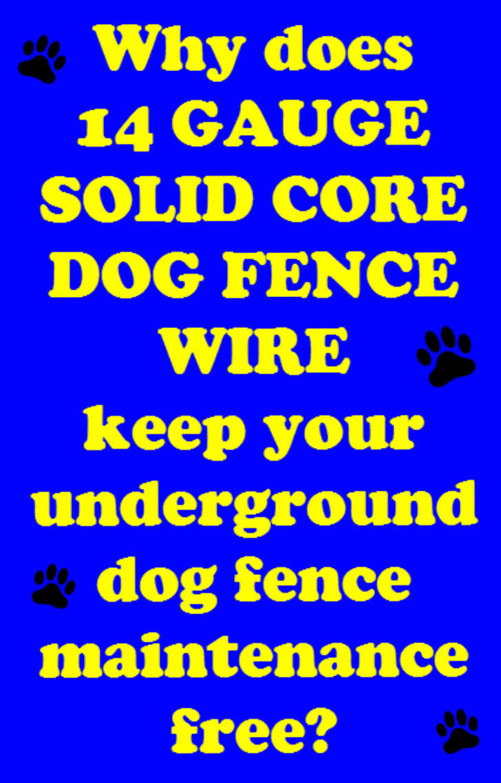 14 gauge dog fence wire